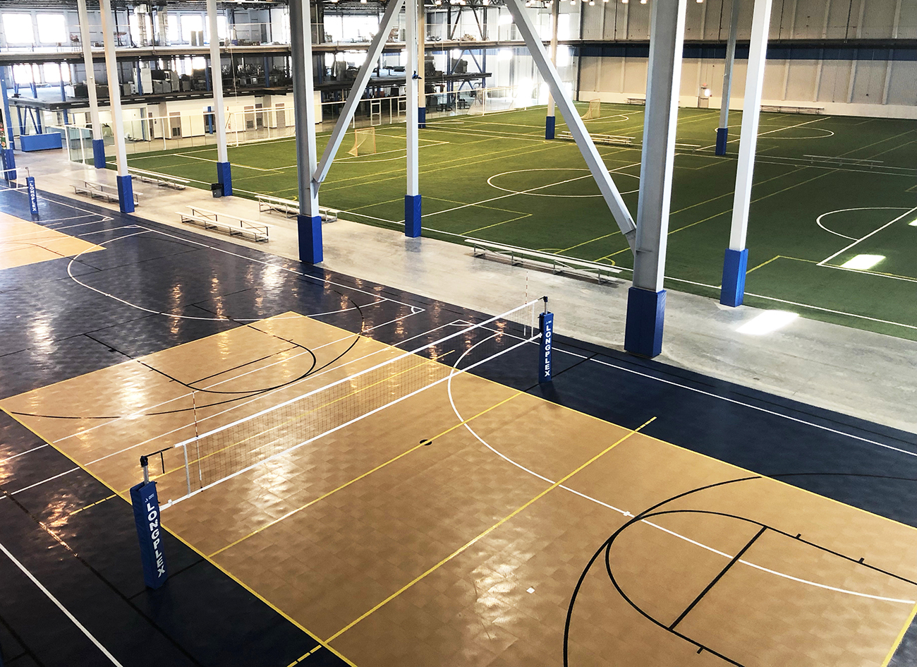 Artificial Turf, Volleyball and Basketball Equipment and multi-sport surfaces