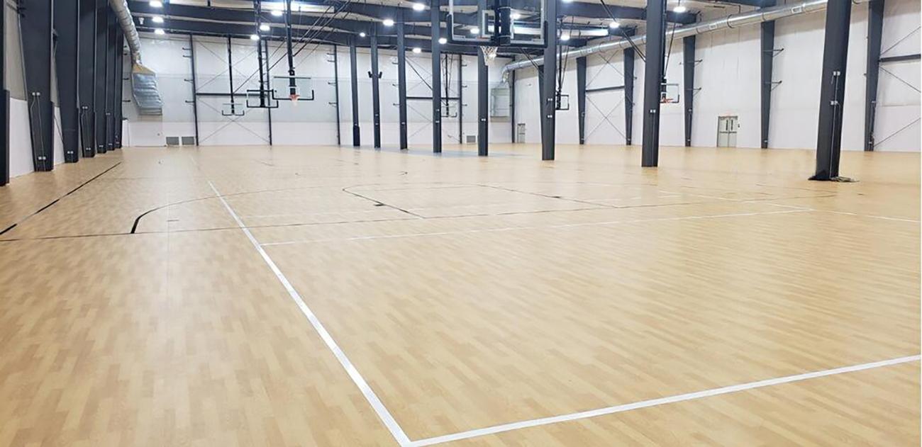 Fiberesin Industries, Taraflex, The Centre, Basketball Backstops