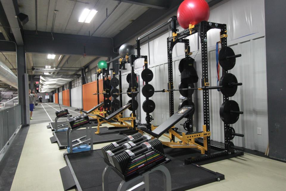 weight room flooring and indoor track
