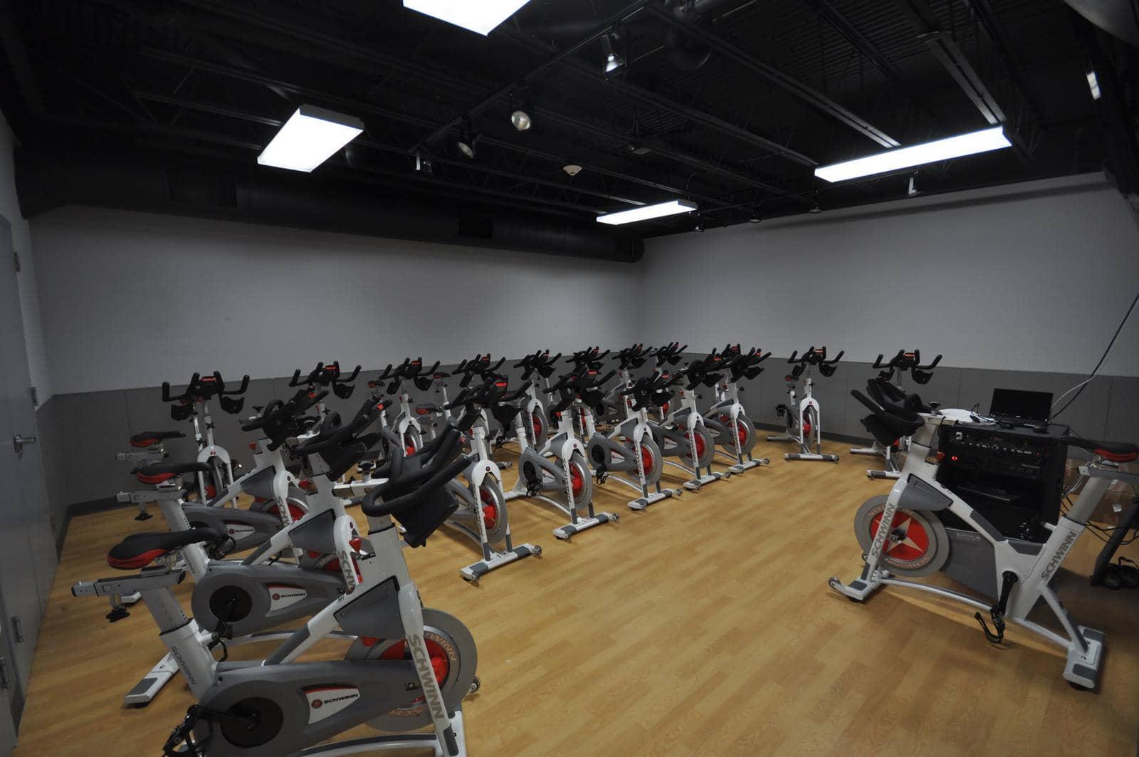 health club flooring for stationary bikes