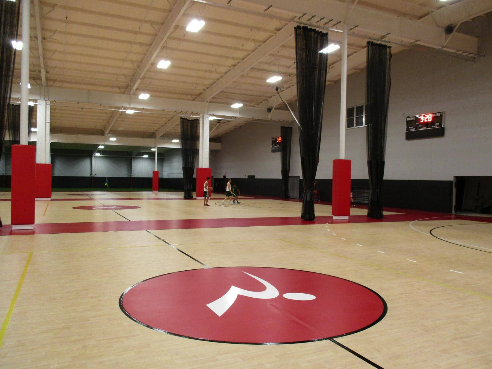 Gymnasium Flooring with custom logos