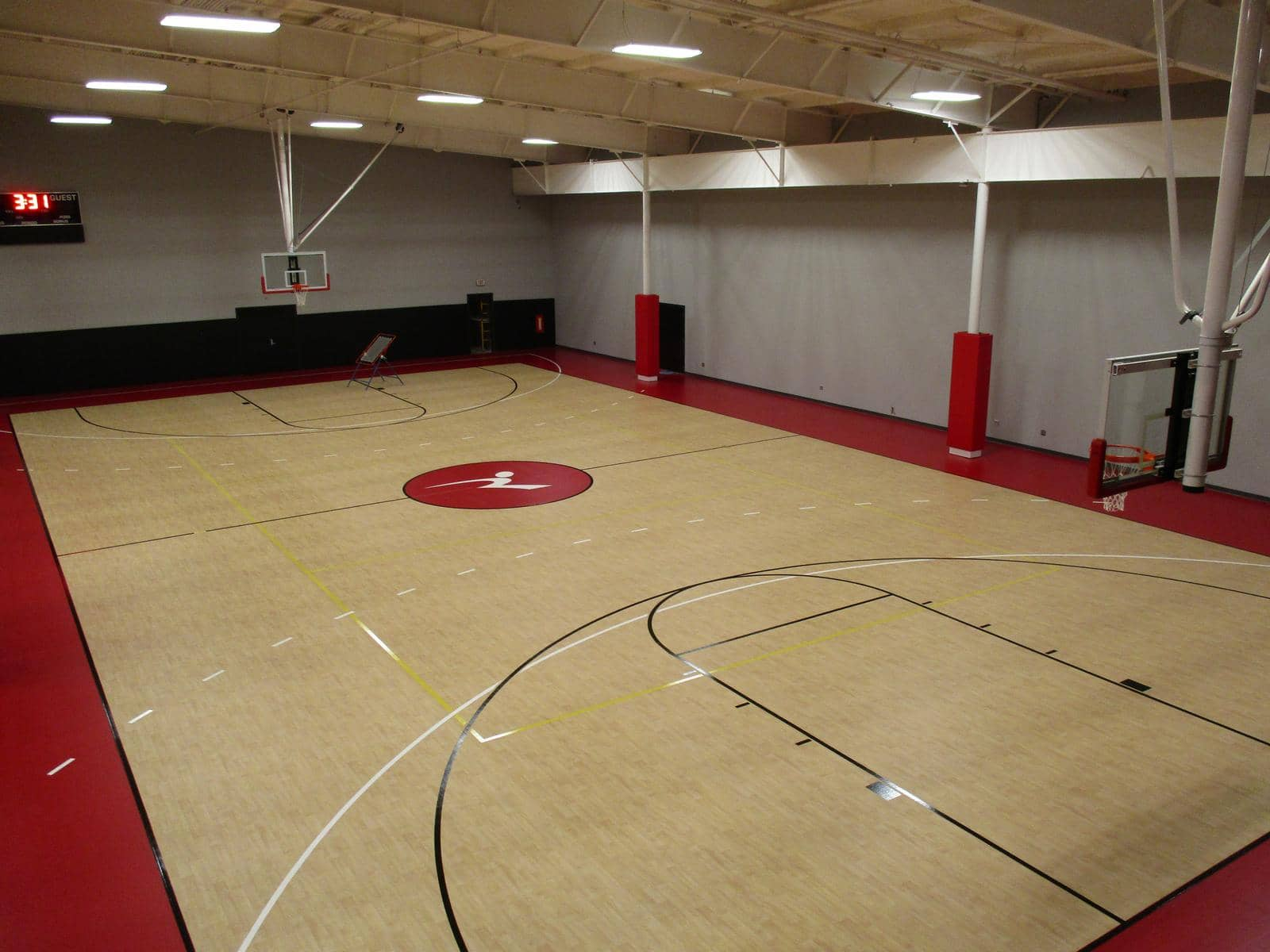 commercial gym floor installation