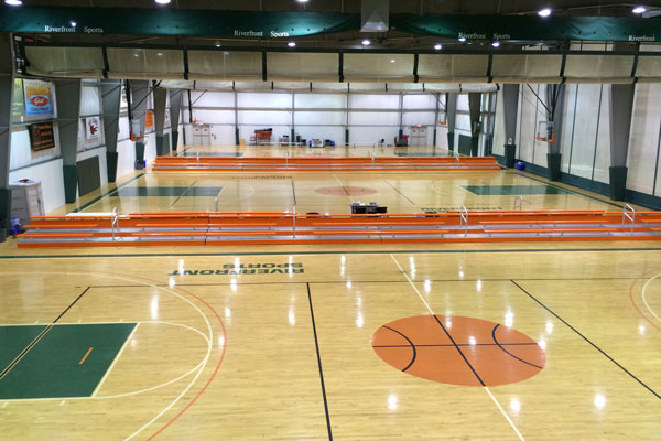 Gymnasium flooring, school gym flooring, turn-key project, Gerflor Indoor Basketball and volleyball flooring