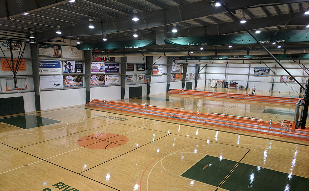 Basketball flooring, volleyball flooring, athletic equipment