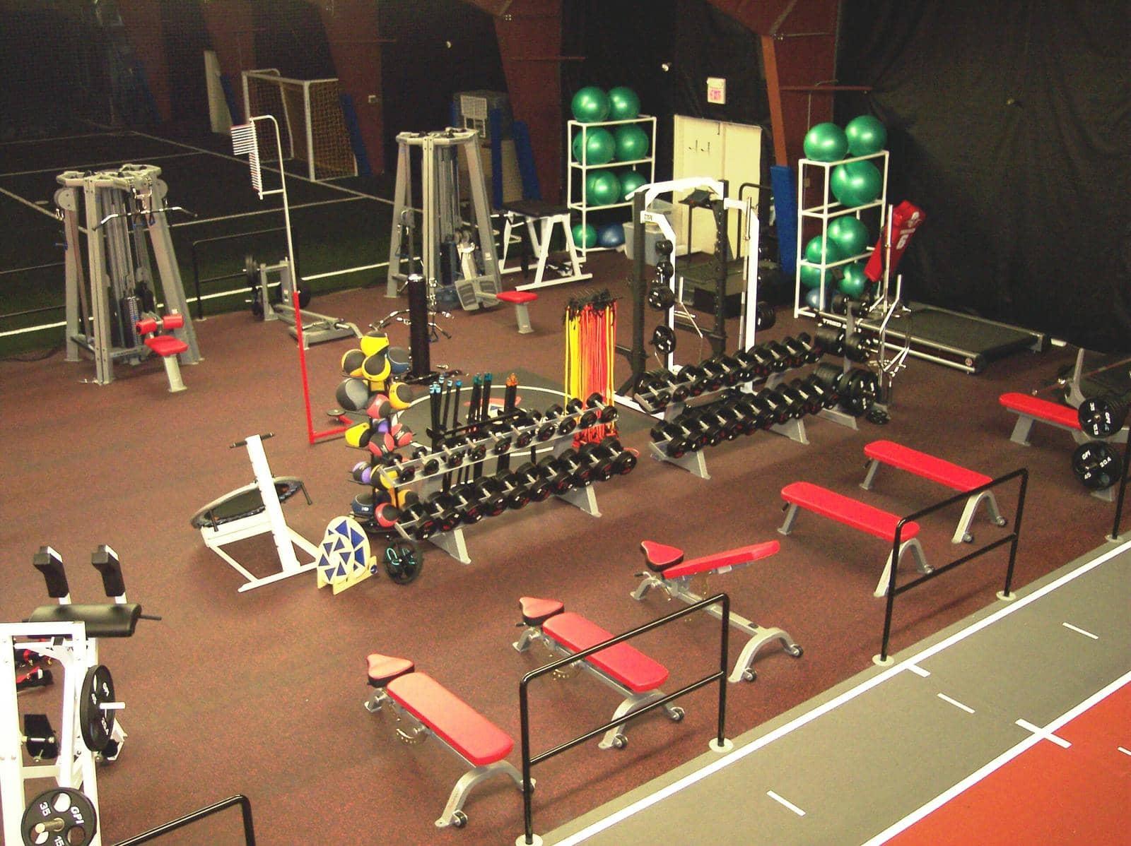 weight room flooring options