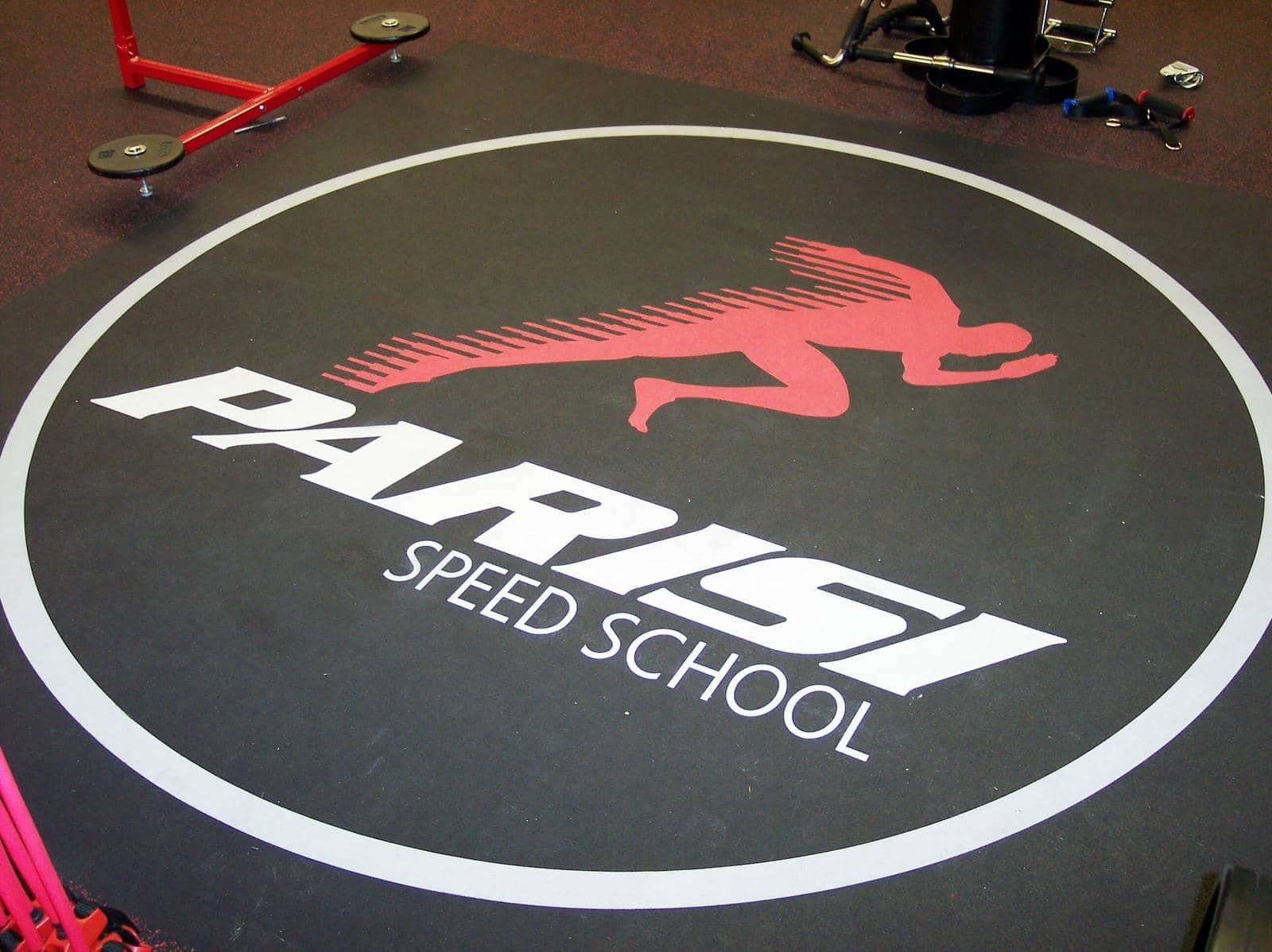 custom logo on flooring