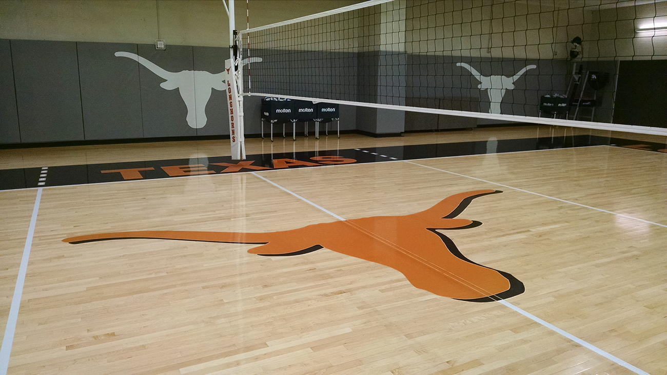 Indoor Gym Flooring: University of Texas, Austin, TX