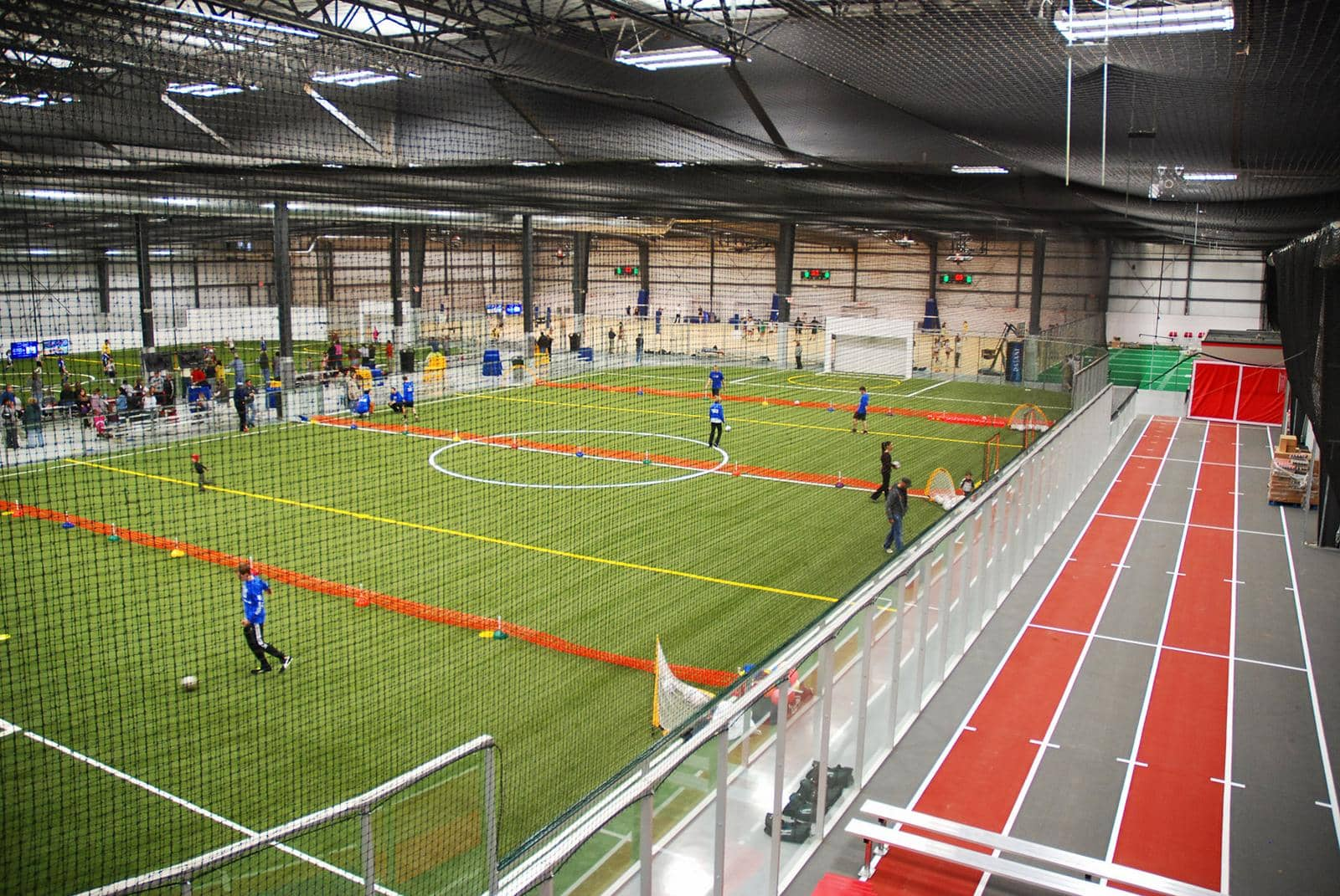 Indoor track, Scoreboards, Protective Netting