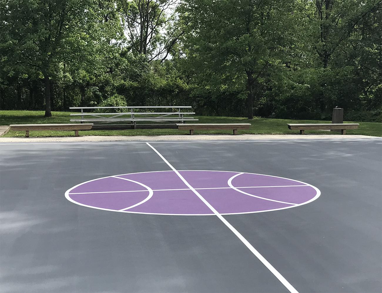 Center Court, Basketball, Park,