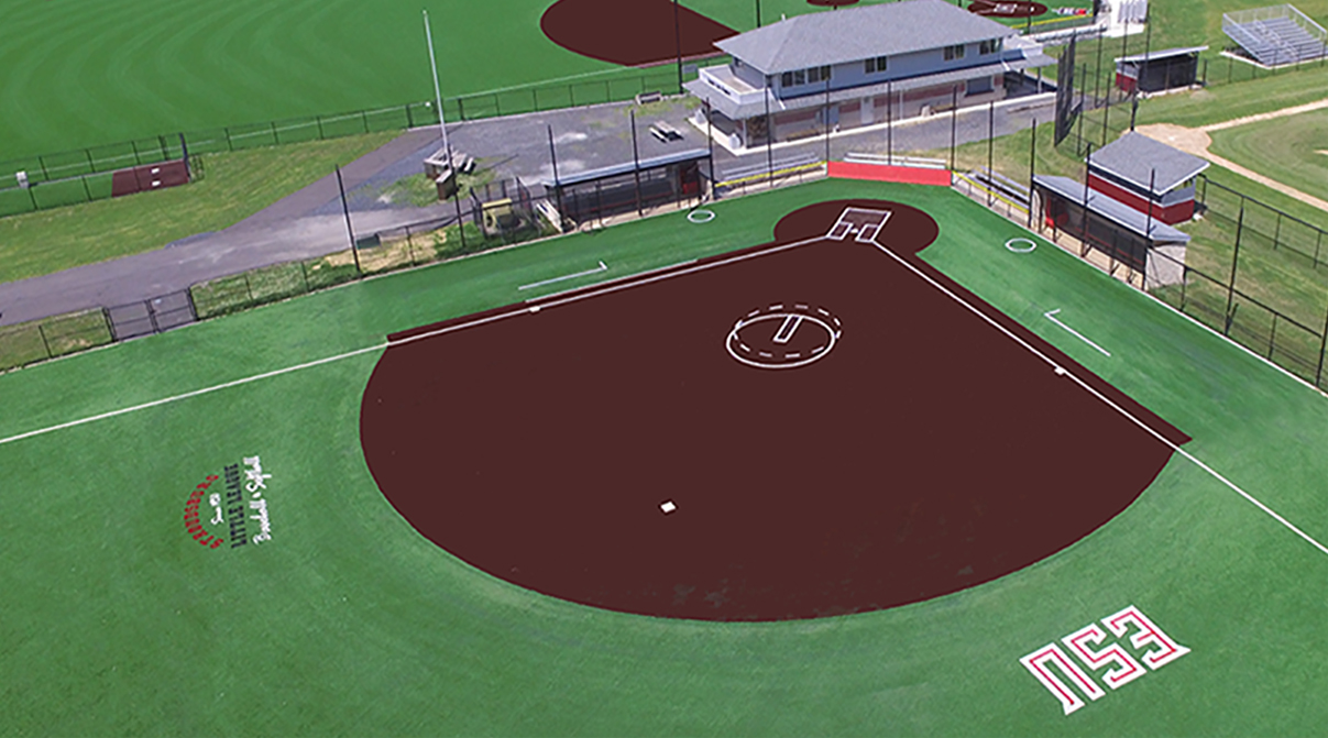 Baseball and Softball Fields, Creekview Park Stroudsburg, PA, How Much is Astroturf, Infield