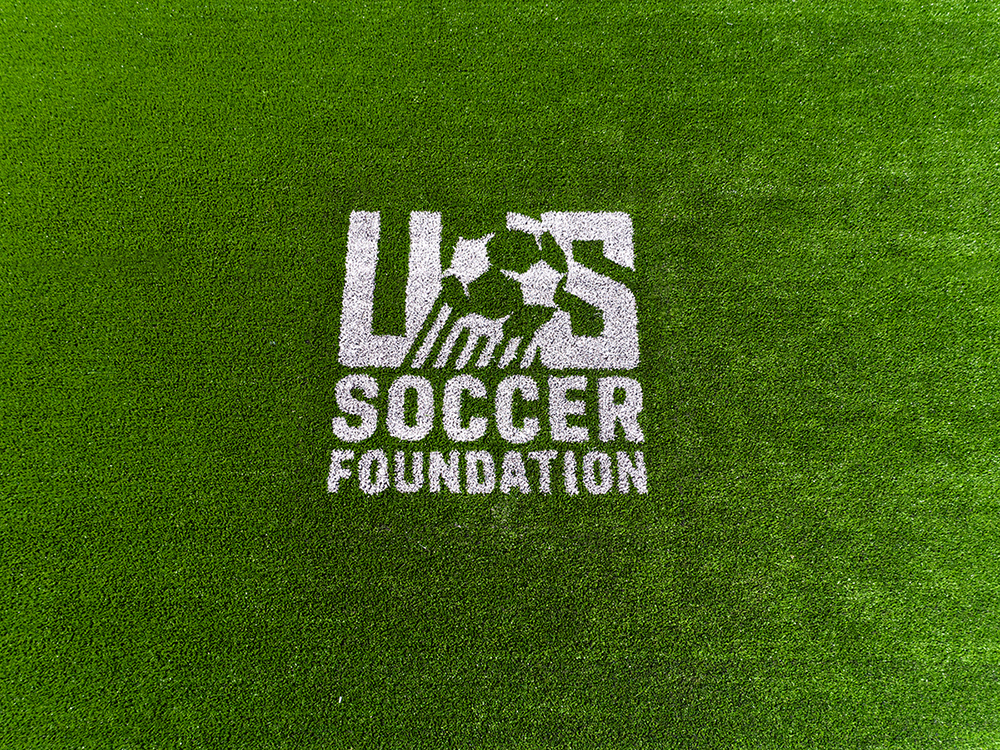 US Soccer Foundation Logo on Artificial Turf