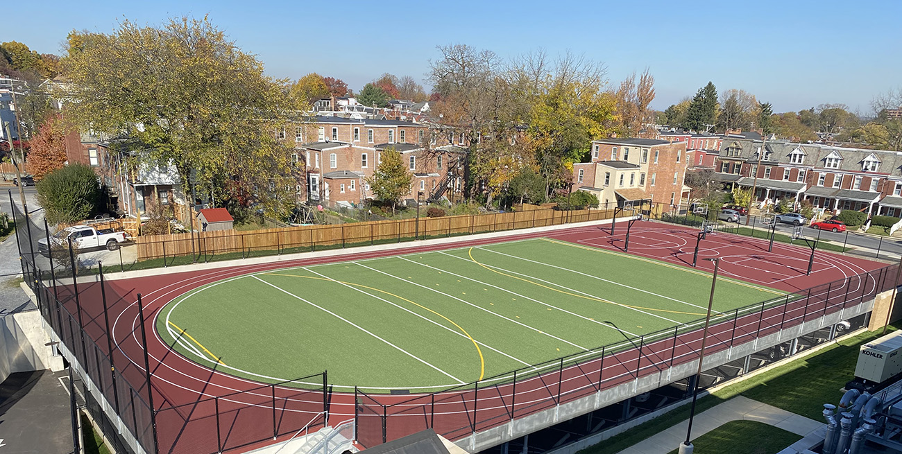 "Nexxfield ""SPORT"" artificial turf, ""NEXXPAD"" padding, Installation, AstroTurf Artificial Turf, Basketball, Running Track, Rooftop, Nexxfield, Infill"