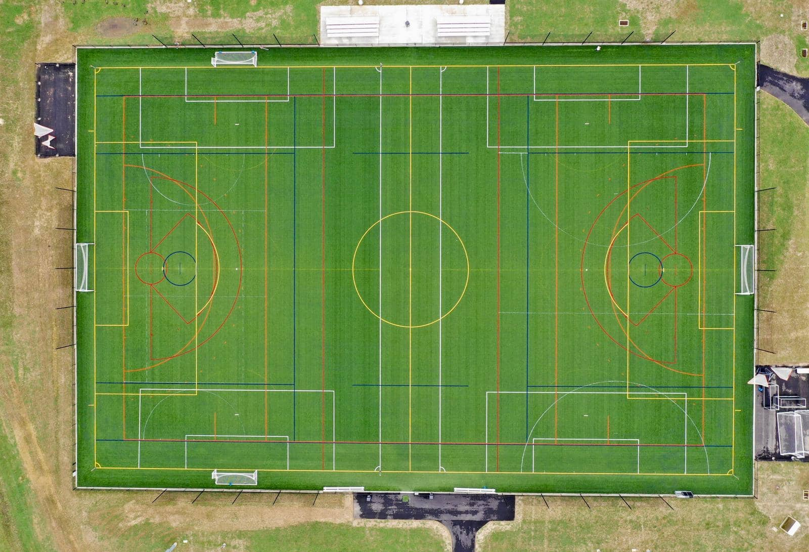 artificial turf soccer and lacrosse field