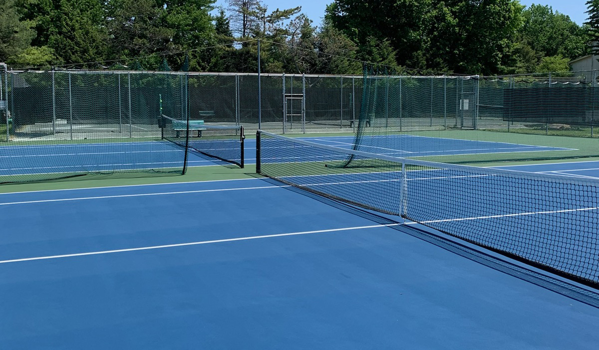 Courts Resurfaced at Picket Post Tennis and Swim Club